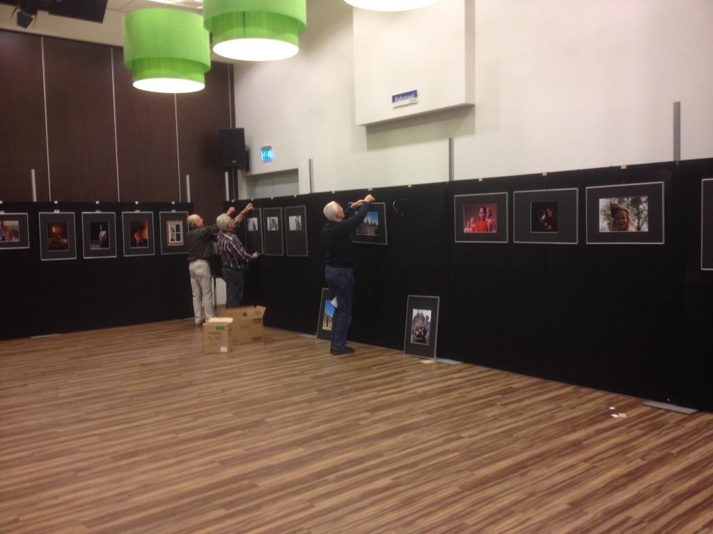Opbouw expositie